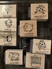 Stampin Up VERY PUNNY stamp set NEW pig ladybug cow FUNNY