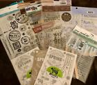 Lot of 12 Packs Scrapbooking Stickers And Rub ons Boys Dad Spring Autumn