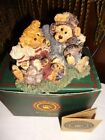 Box VTG 1995 BOYDS BEAR FOOTBALL BUDDIES / Fathers Mothers Day/