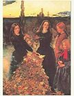 Victorian Trading Co Girls with Leaves Thanksgiving Greeting Cards 6 pack