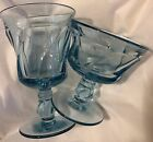 Set Of 16 Fostoria Jamestown Blue Water 6 Goblets  4 Sherbets