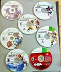 7 XBOX 360 Game Lot - NCAA, MADDEN 08, 10, 11 NBA 2K 14, LIVE 10