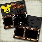 HAPPY HALLOWEEN CASTLE DISNEY 2 Premade Scrapbook Pages EZ Layout 3918