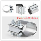 Stainless Steel Exhaust Pipe Clip 25Inch Tube Tip Clamp Car Repair Down Pipe