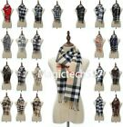 Men Women Winter Warm 100 CASHMERE Scarf Solid Plaid Wool SCOTLAND High quality