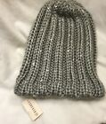FOREVER 21 GREY/SILVER ONE SIZE BEANIE CAP HAT -NEW