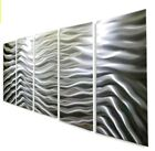 New Large Metal Wall Art Panels Etched Silver Abstract Wall Sculpture Jon Allen