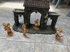 TOWN GATE Build Scene Accessory Number 50252 FONTANINI including 4 figurines