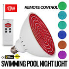 Swimming Pool Light 12V 40W RGB LED W Remote Control Cover Water Fall Embedded