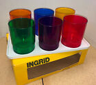 mid century modern INGRID LO-BALL GLASSES and TRAY NOS patio ware