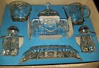 ANCHOR HOCKING 7 PIECE TABLE SERVICE SET EARLY AERICAN PRESCUT # 700/719 new