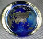LUNDBERG STUDIOS PAPERWEIGHT 3 WORLD Signed LS 06 Earth Planet with Halo