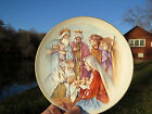 NATIVITY Mary Joseph Studio KNEELING SANTA Baby Jesus Christmas Figurine PLATE