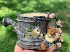 Vintage Boyds Bear Tealight Candle Holder Roses & Watering Can RARE 3/6 ❤️ ts17j