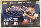 2014 PANINI CERTIFIED FOOTBALL SEALED HOBBY BOX 10 PACKS PER BOX HOT BOXES