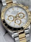 A serial Zenith Daytona 16523 box and papers two tone 18k gold