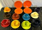 24 pcs Contemporary Fiesta Pottery Cups & Saucers Bread Plates ALL COLORS