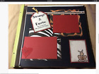 ZOO EXPERIENCE 12x12 Two Premade Scrapbook Pages Handmade Paper Piecing New