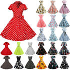 Womens 50s Vintage Style Pinup Swing Evening Party Rockabilly Skater Midi Dress