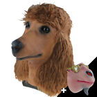 Brown Poodle Dog Head Mask Latex Animal Pet Mask Half Face Costumes Party Dress