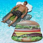 Swimline Deluxe Cheeseburger Island And Beer Mug Swimming Pool Floats Combo Pack