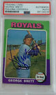 1975 Topps George Brett Rookie Card RC #228 signed Jsa & Psa baseball autograph