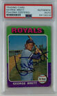 1975 Topps George Brett Rookie Card RC #228 signed Psa slab baseball autograph