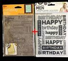 Crafters Companion Men Masculine Birthday  Cuttlebug Embossing Folders 5x7 Lot