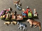 Lot Of Vintage Nativity Set Rubber Plastic From Germany