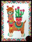 Papyrus Llama Cactus Tassels Pom Poms Colorful Blank Small Note Card NEW