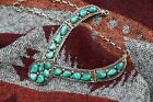 Vintage Native American Navajo Sterling Silver Turquoise Collar Necklace 57g