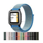 Woven Nylon Sport Loop Watch Band For Pebble Time 2 / Steel Smart Watch Strap