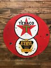 Porcelain Collectable Gas Oul Vintage Texaco Double Sided Sign
