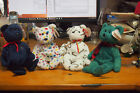 Ty Beanie Baby – Lot of 4 Holiday Bears –Wallace, Cand-e, Ty 2k, Sparks