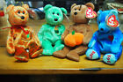 Ty Beanie Baby – Lot of 4 Holiday Bears – Kanata, Killarney, Hocus, Dad-e