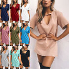 Sexy Summer Women Tunic Long T-shirt Ladies Casual Party Mini Dress Blouse Tops