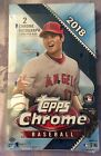 2018 TOPPS CHROME BASEBALL SEALED HOBBY BOX 2 AUTO'S PER BOX LOADED SHIPS FAST