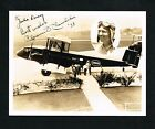 1938 Aviator Clarence Chamberlin Autographed Signed Airplane Photo