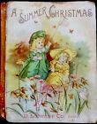 A CHRISTMAS SUMMER Antique 1890s Victorian Childrens Story Picture Book