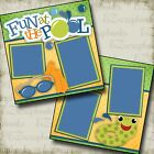 FUN At The POOL 2 Premade Scrapbook Pages EZ Layout 2316