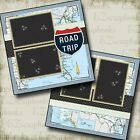 ROAD TRIP 2 Premade Scrapbook Pages EZ Layout 110