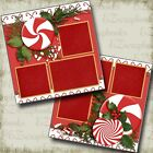 PEPPERMINT HOLIDAY CHRISTMAS 2 Premade Scrapbook Pages EZ Layout 3578