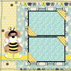 HONEY BEE BEAR 2 Premade Scrapbook Pages EZ Layout 822