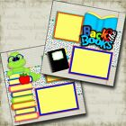 BACK TO THE BOOKS 2 Premade Scrapbook Pages EZ Layout 3392