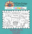 Lil Inker Designs Funny Bunnies Clear Stamp Set 12 StampsFREE SHIPPING