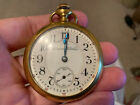 HAMPDEN THE DUEBER WATCH CO 21j 14kGOLD FILLED OPEN FACE 18s RR POCKET WATCH