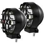 Anzo 6 Hid Off Road Lights Black W Lens Protector Pair 861096
