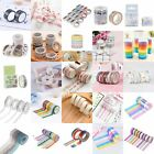 DIY WashiTape Set Masking Tape Scrapbook Decorative Paper Adhesive Stic DM