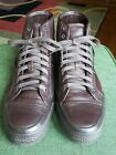 Mens Frye Greene Tall Lace Up Sneakers 95 M Dark Brown Worn twice Exc Cond