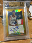 2012-13 SELECT GOLD REFRACTOR RC PATCH #6 10 JEREMY LAMB BGS 9.5 AUTO 10